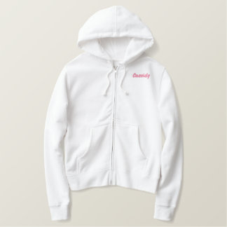 Lady Capricorn Zodiac Traits Pink Thread Embroidered Hoodie