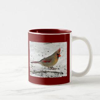 Lady Cardinal in Snow Mug