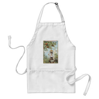 Lady Carrying Fruit Apron