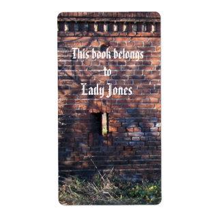 Lady Castle Jones  Bookplate Shipping Label
