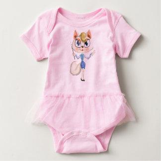 Lady cat teacher baby bodysuit