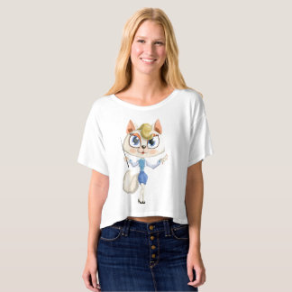 Lady cat teacher shirt