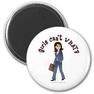 Lady CEO in Business Suit Refrigerator Magnet