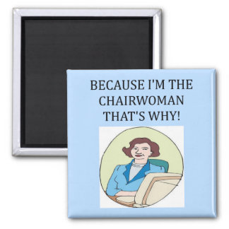 lady ceo square magnet