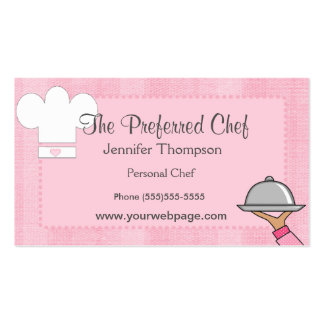 Lady Chef Business Cards
