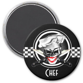 Lady Chef Skull Magnet