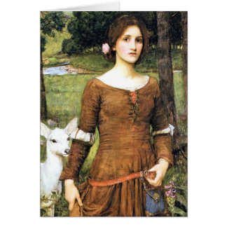 Lady Clare with a Fawn Card