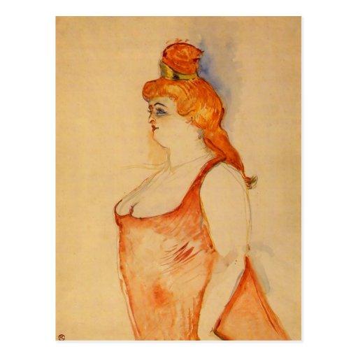 Lady Cocyte by Toulouse-Lautrec Postcards