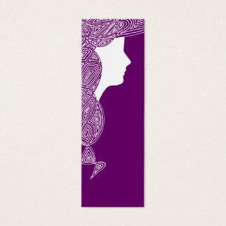 Lady - Custom Color Mini Bookmarks Mini Business Card