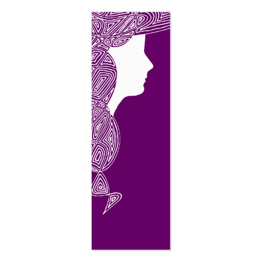Lady - Custom Colour Mini Bookmarks Pack Of Skinny Business Cards