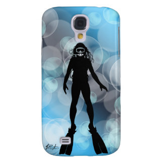 Lady Diver in Bubbles Samsung Galaxy S4 Cover