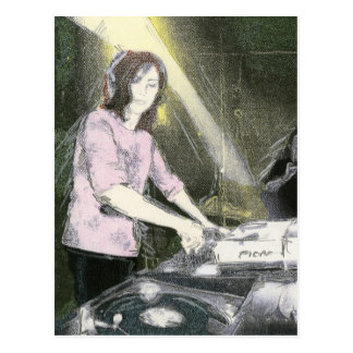 Lady DJ Postcard