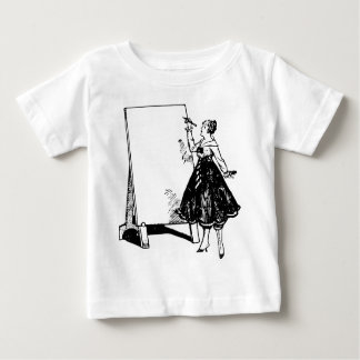 Lady Drawing Baby T-Shirt