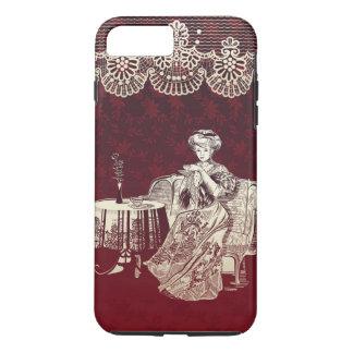 lady drinks tea iPhone 8 plus/7 plus case