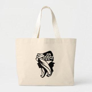 Lady Flowers Hangbag Tote Bag