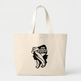 Lady Flowers Hangbag Large Tote Bag