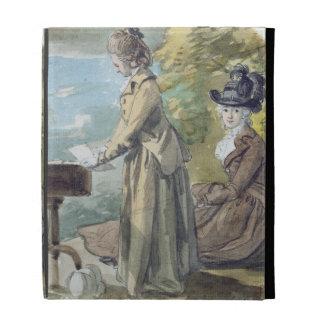 Lady Francis Scott and Lady Elliot, c.1770 (w/c ov iPad Folio Cases