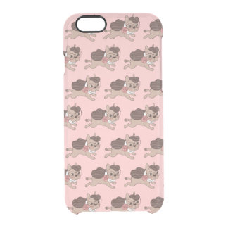 Lady Frenchie is going out for a walk Clear iPhone 6/6S Case