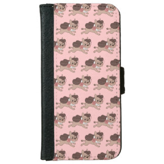 Lady Frenchie is going out for a walk iPhone 6 Wallet Case