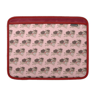 Lady Frenchie is going out for a walk MacBook Air Sleeves