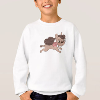 Lady Frenchie is going out for a walk Sweatshirt