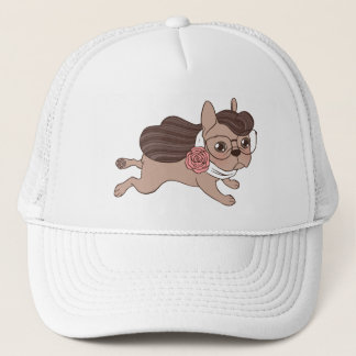 Lady Frenchie is going out for a walk Trucker Hat