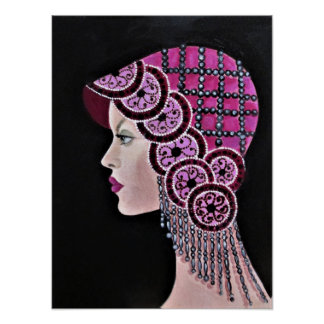 Lady From The Great Gatsby Era Poster