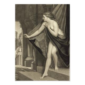 Lady Godiva by T.L. Atkinson 1874 13 Cm X 18 Cm Invitation Card