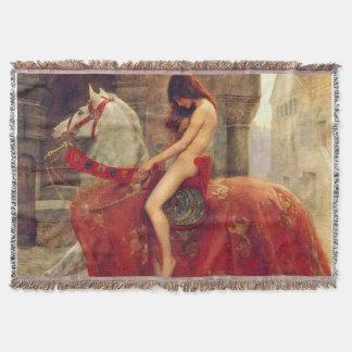 Lady Godiva Throw Blanket