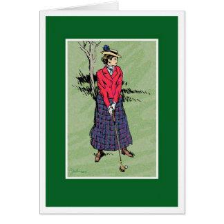 Lady Golfer Card