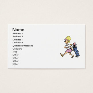 Lady Golfer Tshirts and Gifts Business Card
