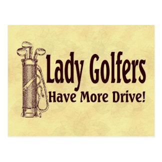 Lady Golfers Postcard