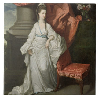 Lady Grant, Wife of Sir James Grant, Bt., 1770-80 Large Square Tile