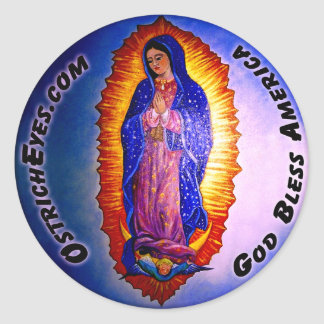 Lady Guadalupe Blessing Classic Round Sticker