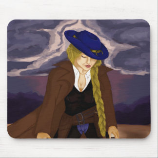 Lady Gunslinger Mouse Pad