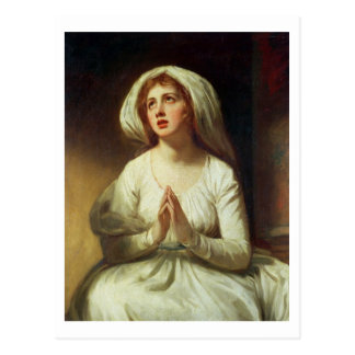Lady Hamilton Praying Postcard