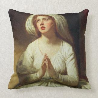 Lady Hamilton Praying Throw Pillow