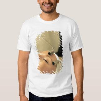 Lady having face massage tshirt