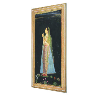 Lady holding a blossom, from the Small Clive Album Gallery Wrapped Canvas