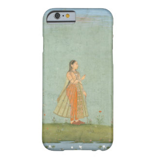 Lady holding a flower, standing by a lily pond, fr barely there iPhone 6 case
