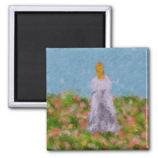 Lady in a Summer Field Magnet