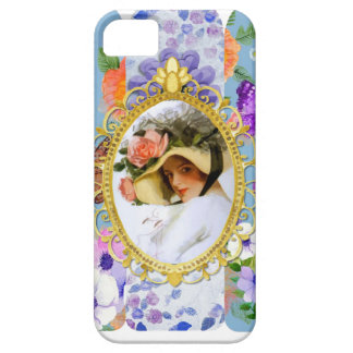 lady in blue iPhone 5 cover