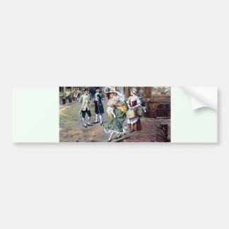 Lady in Europe antique painting Bumper Stickers