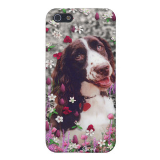 Lady in Flowers - Brittany Spaniel Dog Case For The iPhone 5