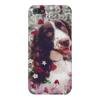 Lady in Flowers - Brittany Spaniel Dog Cover For iPhone 5/5S