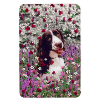 Lady in Flowers - Brittany Spaniel Dog Magnets