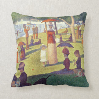 Lady in Orange Throw Pillow