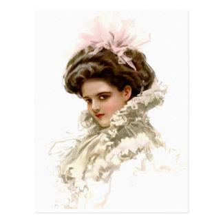 Lady in Profile Postcard