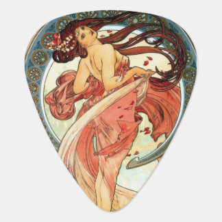 Lady in Red 2 Mucha guitar pick