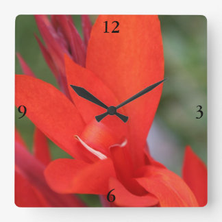 """""""Lady in Red"""" Red Canna Lily Clock"""